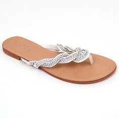 Jones Woven Sparkle Strap Dressy Flip Flops, Thong Sandals, Great Summer Flats. Shoes available in 8 Colors L - 10$