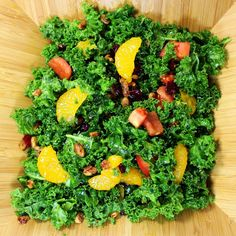 Inspired By eRecipeCards: Grilling Time (Side Dish) - Massaged Kale Salad