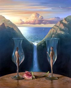 Vladimir Kush to our time together painting for sale - Vladimir Kush to our time together is handmade art reproduction; You can shop Vladimir Kush to our time together painting on canvas or frame. Vladimir Kush, Surrealism Painting, Pop Surrealism, Artist Painting, Fantasy Kunst, Fantasy Art, Art Visionnaire, Psy Art, Wassily Kandinsky