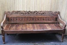 Beautiful Benches Abound At Design Mix Furniture In Los Angeles, Like This  Carved Wood Balinese Teak Bench.