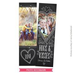 Valentine Bookmark template | Love class | Photoshop templates for photographers by Birdesign