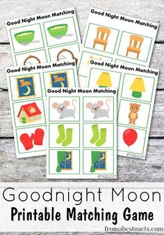 Goodnight Moon doesn't have to be just a bedtime story! In fact, you can enjoy it all day long with this fun printable Goodnight Moon matching game!