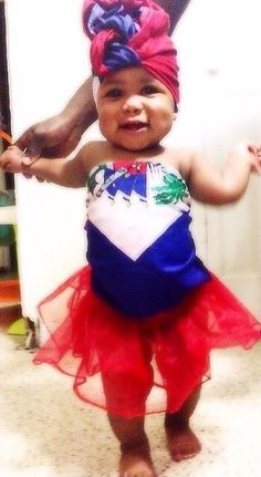 """""""She didn't ask to be HAITIAN she just got lucky."""" Baby Zoe ❤️"""