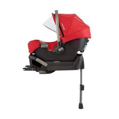 Nuna Pipa Car Seat with Base Set - Scarlet - Free Shipping - The Nuna Pipa offers the perfect combination of style and safety. Not many of us moms are willing to sacrifice one for the other and now you dont have to. With the super safe and easy installation the Pipa is also convenient and user friendly. BabyCubby.com