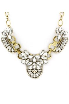 Andrina Statement Necklace in Rhinestone on Emma Stine Limited