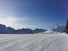 Saisonopening am  Fellhorn bei Oberstdorf. Top-PistenBedingungen & strahlender Sonnenschein