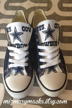 8019f26cb14075 Dallas Cowboys Custom Converse Chuck Taylor Chucks by MizMaryMacks