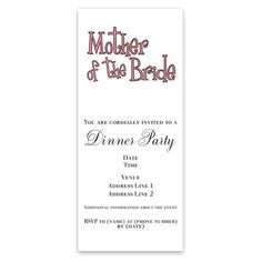 How toMother of the Bride Pink InvitationsWe have the best promotion for you and if you are interested in the related item or need more information reviews from the x customer who are own of them before please follow the link to see fully reviews...Cleck Hot Deals >>> http://www.cafepress.com/mf/50934125/mother-of-the-bride-pink_invitations?aid=112511996