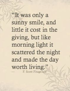 It was only a sunny smile.....