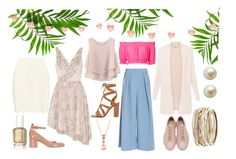 """""""Backyard Party"""" by zrosecomputer on Polyvore featuring Elizabeth and James, Gianvito Rossi, Common Projects, Roksanda, Chicwish, Apiece Apart, adidas Originals, LE VIAN, Carolee and Kendra Scott"""