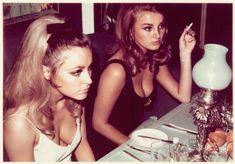 "themaninthegreenshirt: "" Sharon Tate and Barbara Bouchet, Playboy London Club Casino 1966 """