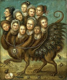 Eleven-Headed Winged Creature, early 18th century