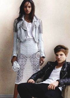 Malaika Firth & Leo Dobson for Burberry Spring/Summer 2014 Advertising Campaign, ph. by Mario Testino.