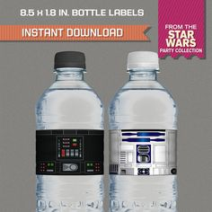 Star Wars Party Printable Birthday Bottle by PartyPrintables2go