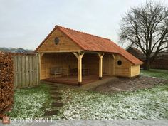 Wood in Style Garage Building Plans, Outdoor Buildings, Wood Shed, Tiny Living, Outdoor Entertaining, Stables, Lodges, Country Living, Garden Inspiration
