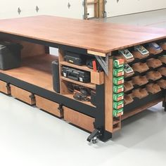 Maneuver your heavy workbench with ease using our Workbench Caster Set! Workbench Casters, Paulk Workbench, Workbench Stool, Workbench Plans Diy, Industrial Workbench, Workbench Organization, Building A Workbench, Workbench Designs, Folding Workbench