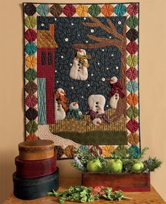 Snowman Shenanigans Wall Hanging from Kim Diehl