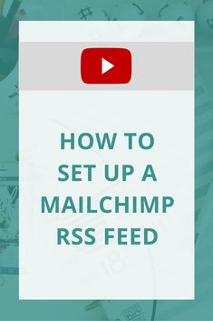 Mailchimp is a free tool that entrepreneurs love to use. It's great way to automate sending your blogs to readers. Learn how to set up an RSS feed with this video!