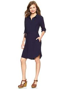 gap - fluid henley shirtdress