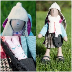 Sweet Bunny Molly!  Made to order. Author's textile doll handmade, made of natural materials. Perfect as a gift for your children, family and friends or even as a home decor
