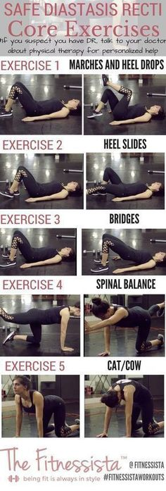 Diastasis Recti Exercises - Tips for Safe Workouts Tips for safe workouts if you have diastasis recti, or abnormal ab separation after pregnancy. Tips for safe workouts if you have diastasis recti, or abnormal ab separation after pregnancy. Fitness Workouts, Training Fitness, Sport Fitness, Fitness Motivation, Health Fitness, Ab Workouts, Workout Exercises, Workout Tips, Workout Dumbell