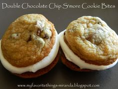 Double Chocolate Chip Smore Cookie Bites