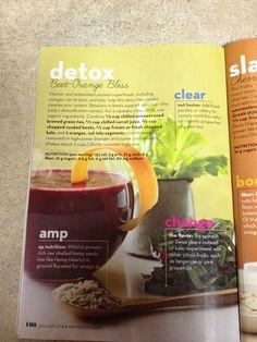 Detox smoothie from Prevention magazine