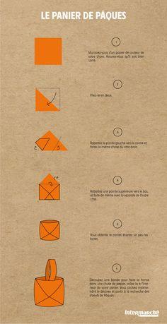 Tuto Origami Panier de Pâques
