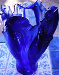 Carole-Anne Lunn, Glass artist. glass Candle holder or Vase