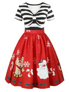 Limited Chance for Elegant Striped Women Christmas Dress Vintage Dresses Swing Rockabilly Summer Short Sleeve Lace Office Party Dress Plus Size Plus Size Christmas Dresses, Christmas Dress Women, Plus Size Dresses, Womens Christmas, Christmas Print, Tacky Christmas, Elegant Christmas, Vintage Christmas, Christmas Decorations
