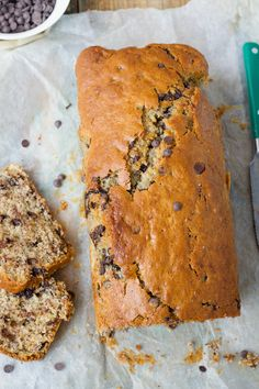 Indulge guilt-free with this Low Carb Sugar (almost) Free Chocolate Chip Banana Bread recipe! Add this to your atkins recipes!  Good for maintenance phase!