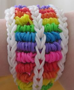 My handmade rainbow loom Candy Streamer bracelet :)