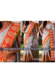 Stylish Designer Nylon Silk Georgette Sari
