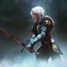 Ideas Illustration Art Fantasy Magic Artists For 2019 Fantasy Warrior, Fantasy Rpg, Medieval Fantasy, Fantasy Girl, Fantasy Artwork, Dark Fantasy, Woman Warrior, Fantasy Fiction, Final Fantasy
