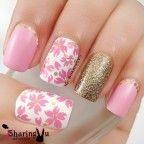 pink nail art 40 - 65 lovely Pink Nail Art Ideas <3 <3