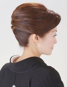 【留袖ヘア】毛流れの綺麗な大人アップスタイル 夢館ビューティー    京都    着物着付・ドレスヘアセット&メイク    結婚式・およばれ・パーティに