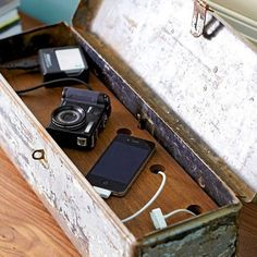 Unleash your inner artist on an extra box to make a cover for a power strip, your ugly plugs and all that extra cord with a little personal style to spare.