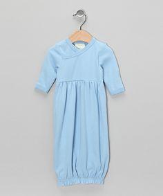 Light Blue Organic Gown - Infant  #zulily #fall