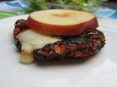 BBQ Apple Cheddar Turkey Burger (with Laughing Cow Cheese!)