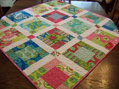 Moda's Summer House Baby or Toddler Quilt by SouthernBelleDesigns, $90.00