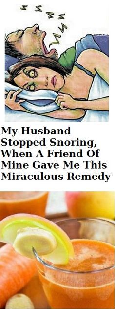 My Husband Stopped Snoring, When A Friend Of Mine Gave Me This Miraculous Remedy