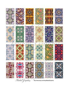 Classic chinese Patterns mixed Art flowers by BaikalGraphics, $3.50