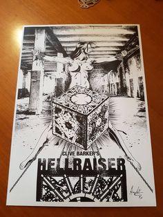 Hellraiser Ink Art on A4 260gr. Goffrato Signed di AMCArtimagination su Etsy