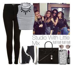 """""""Studio with Little Mix"""" by lovatic92 ❤ liked on Polyvore featuring Topshop, Glamorous, Keds, Yves Saint Laurent, Illesteva, Casetify and Maison Margiela"""