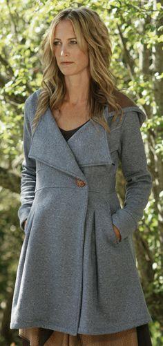 Maryanne Coat by rebe in denim (all recycled fibers)