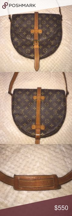 Chantilly Louis Vuitton Vintage bag 100% genuine Chantilly LV Vintage bag. No holes the only flaw is the inside pocket which is peeling as per picture other than that the bag is in great condition. Depending on your height you can use as cross body. I'm 5-2 and j can use as cross body. Straps are adjustable. Dust bag included. Louis Vuitton Bags Shoulder Bags