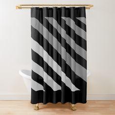 Merry Christmas Polka Dots Wave Lines Chevron Shower Curtain Set Bathroom Decor