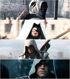 Altair, Ezio, Connor, and Edward