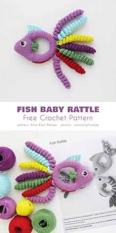 Crochet baby 383791199497560395 - Fish Baby Rattle Free Crochet Pattern Source by bernadetteremon Crochet Baby Toys, Crochet Patterns Amigurumi, Knitting Patterns, Crochet Fish Patterns, Free Knitting, Baby Knitting, Free Crochet, Pattern Baby, Baby Patterns