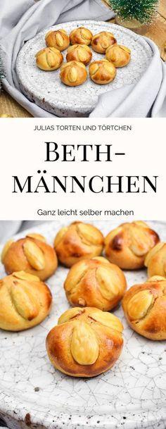 Rezept für klassische Weihnachtsplätzchen, Bethmännchen mit Marzipan #Weihnachtsplätzchen #Plätzchen #bethmännchen